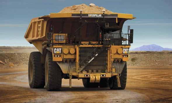 Autonome Caterpillar Bergbaulastwagen