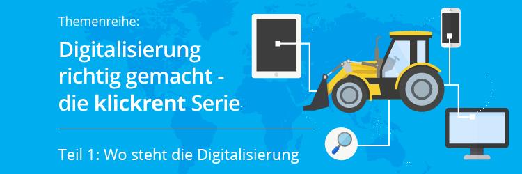 Der Ist-Zustand der Digitalisierung in Deutschland