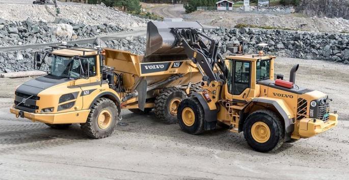 Autonome Baustellenfahrzeuge von Volvo