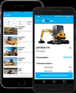 Klickrent App für IOS und Android