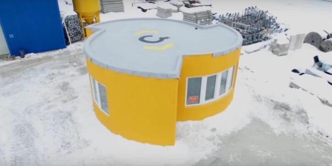 Fertiges Haus aus dem 3D-Drucker von Apis Cor